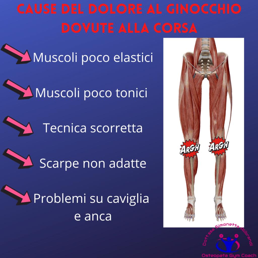Simonetta alibrandi osteopata posturologo personal trainer rimedi esercizi Cause del dolore al ginocchio dovute alla corsa